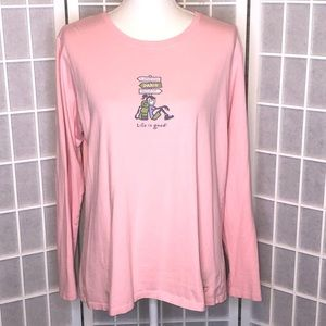 Life is Good travel long sleeve shirt size large